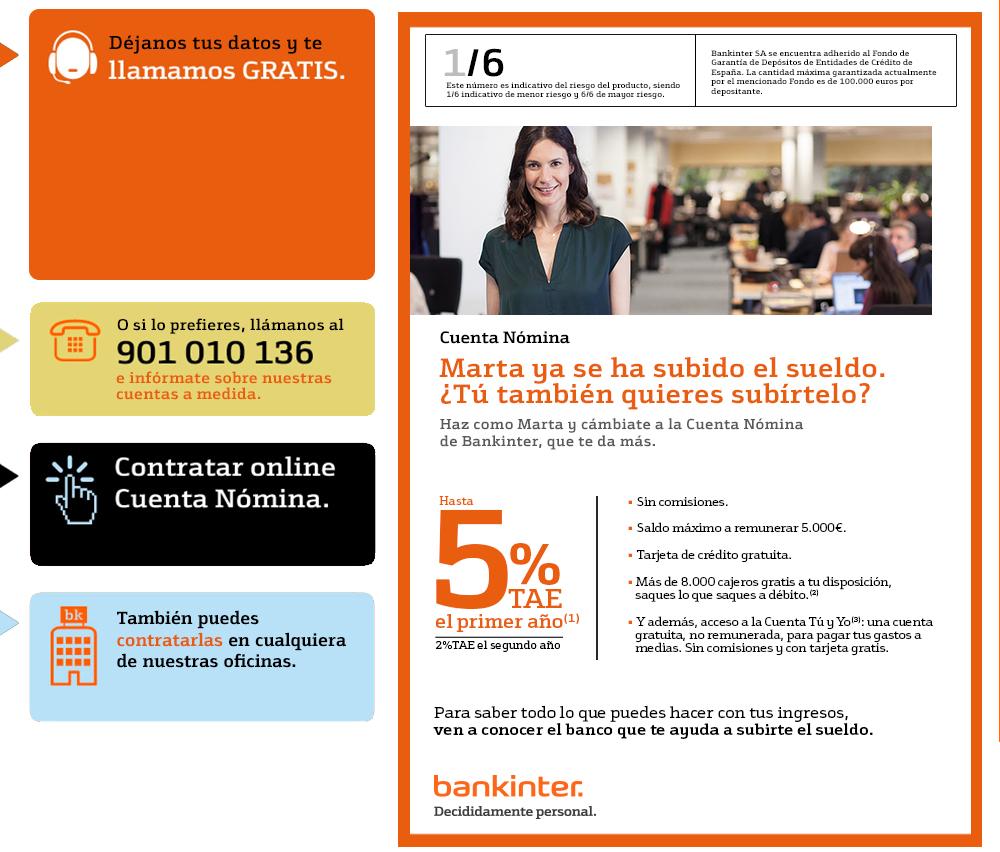 Promoción de Bankinter para nuevos clientes